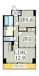 KMおおたかの森[7階]の間取り