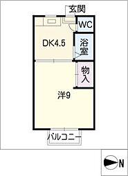 ラフォーレ葵[2階]の間取り