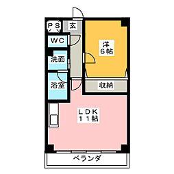 ガーデンベル[3階]の間取り