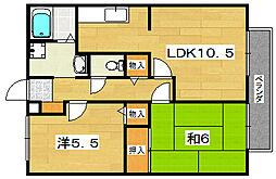 第2ヤマダハイツ[2階]の間取り