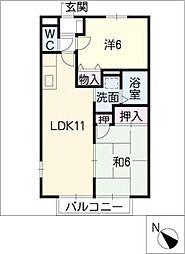 メゾン クレール[2階]の間取り