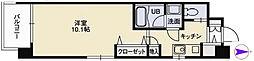 広島電鉄6系統 八丁堀駅 徒歩6分の賃貸マンション 4階1Kの間取り
