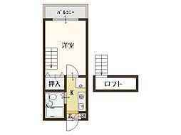 エスポワールI[1階]の間取り