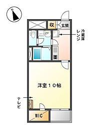 愛知県東海市富貴ノ台1丁目の賃貸アパートの間取り