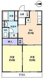 ジョリエ勝田台[1階]の間取り