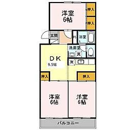 アヴェニュー元浜[305号室]の間取り