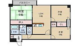 メゾンドヴォーヌ21[10階]の間取り