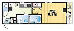 エムズコート小阪[1階]の間取り