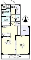 JR山陽本線 北長瀬駅 徒歩17分の賃貸マンション 1階1LDKの間取り