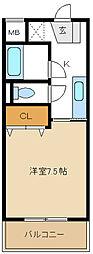 愛知県名古屋市天白区植田西2の賃貸マンションの間取り