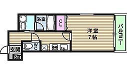 リバーライズ東小橋[201号室]の間取り