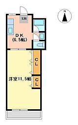 エフメゾン熱田(fメゾン熱田)[2階]の間取り