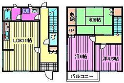[テラスハウス] 埼玉県さいたま市北区本郷町 の賃貸【埼玉県 / さいたま市北区】の間取り