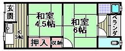 旭ハウス[1-12号室]の間取り