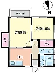 近藤アパート[202号室]の間取り
