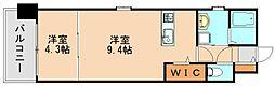 クラブ博多駅南レジデンス[4階]の間取り