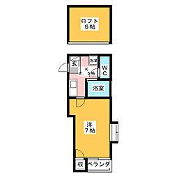 ピュア博多東壱番館[1階]の間取り