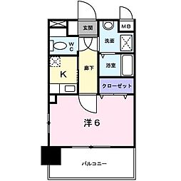 ハイネタウン箱崎[7階]の間取り