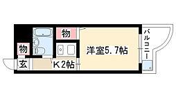 愛知県名古屋市昭和区広路本町2丁目の賃貸マンションの間取り