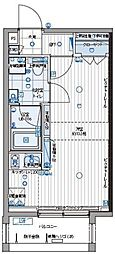 都営三田線 三田駅 徒歩12分の賃貸マンション 3階ワンルームの間取り