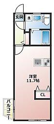 01ハウス[202号室]の間取り