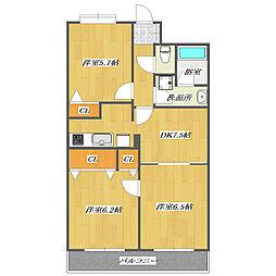 Habitation Minamikasai II[205号室]の間取り