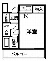 プレステージフジ久米田壱番館[3階]の間取り