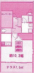 フローレスNK[1階]の間取り