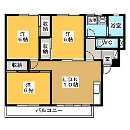 レジデンス カネト[2階]の間取り