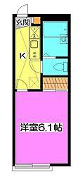 東京都清瀬市中清戸5丁目の賃貸アパートの間取り