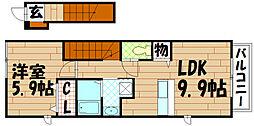 ライフサニ−浅川A[2階]の間取り