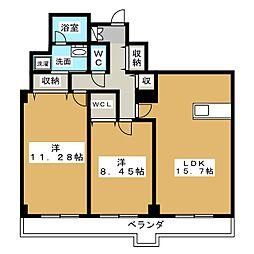レデントーレ[3階]の間取り