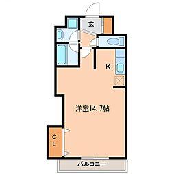 プロムナーデ神宮[207号室号室]の間取り