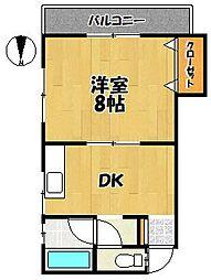 中西荘[2階]の間取り