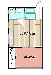 永野ビル[201号室]の間取り