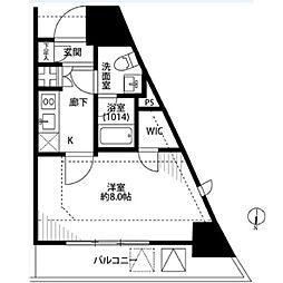 プレール・ドゥーク東京EASTIII[905号室]の間取り
