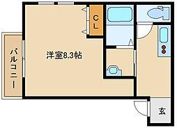 兵庫県尼崎市北城内の賃貸アパートの間取り