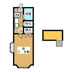 ホワイトキャッスル中倉7番館[2階]の間取り