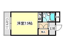 大阪府河内長野市長野町の賃貸マンションの間取り