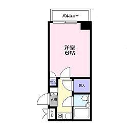 西津田中村コーポ[705号室]の間取り