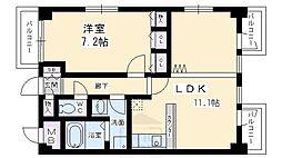 日宝サンフローラ三条大宮[4階]の間取り