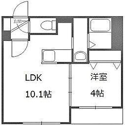北海道札幌市豊平区豊平六条10丁目の賃貸マンションの間取り