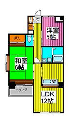 田島ビル[403号室]の間取り