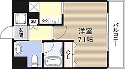 大阪府大阪市西区九条南4丁目の賃貸マンションの間取り