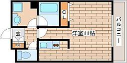 阪神本線 西灘駅 徒歩5分の賃貸マンション 8階ワンルームの間取り