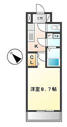 三重県松阪市朝日町の賃貸マンションの間取り
