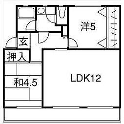 愛知県名古屋市名東区社が丘2の賃貸マンションの間取り