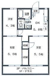 MINT HOUSE D[2階]の間取り