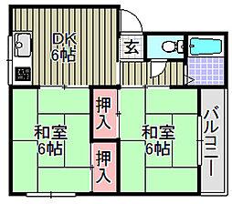 片山ハイツ[201号室]の間取り