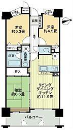 ライオンズマンション阿倍野阪南町第2[9階]の間取り